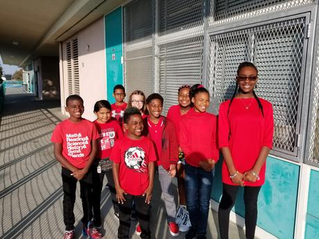 5th Grade students participate in the weeks activities by wearing red